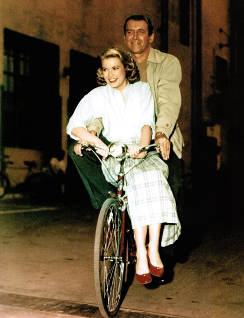 Jimmy Stewart &amp; Grace Kelly on the set of Rear Window