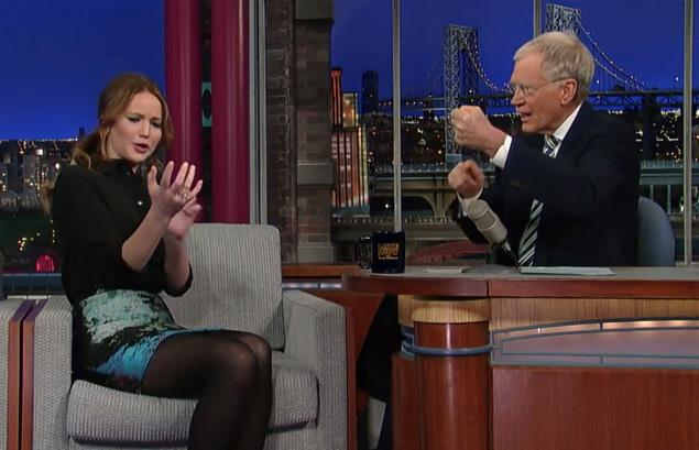 jennifer laerence david letterman