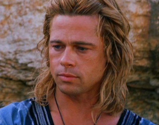 20 Miscast Movie Roles That Completely Ruined Movies ... Achilles Brad Pitt Hair
