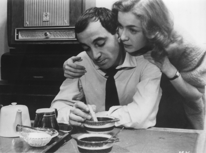 Charles Aznavour and Marie Dubois in Franois Truffaut's SHOOT T