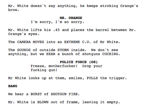 reservoir dogs scripts