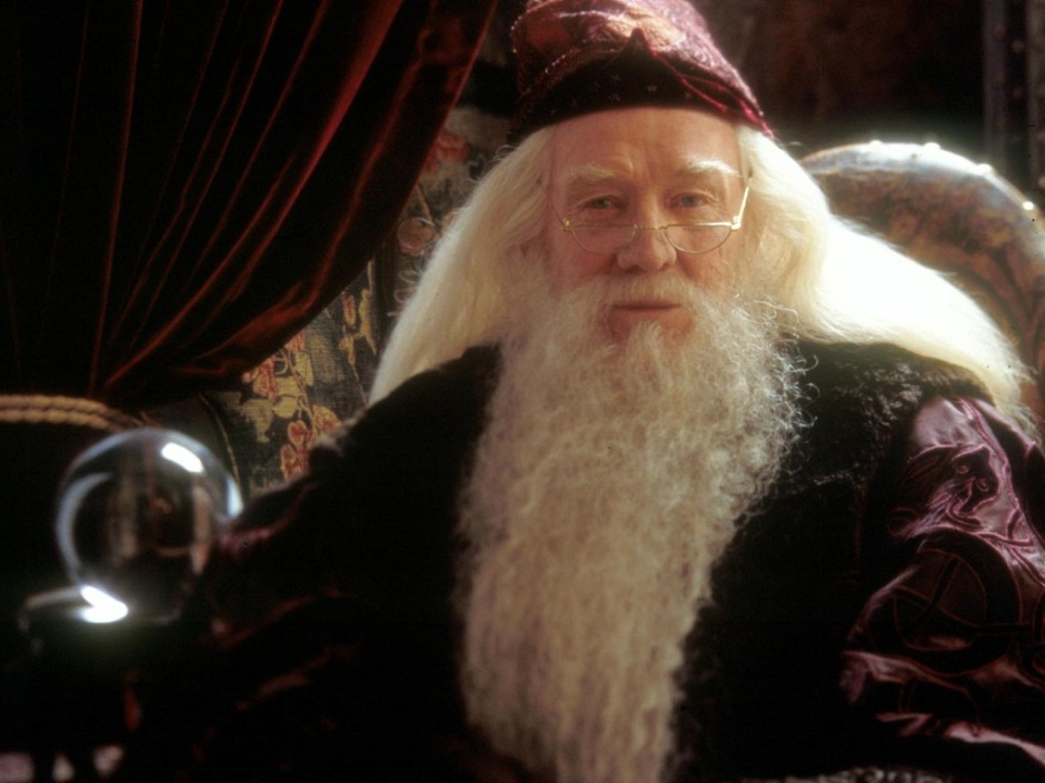Richard Harris in Harry Potter and the Chamber of Secrets