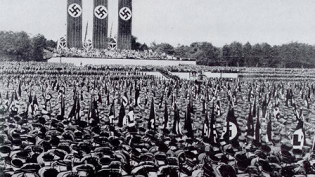 The nazi collaborator leni riefenstahl in the film triumph of the will