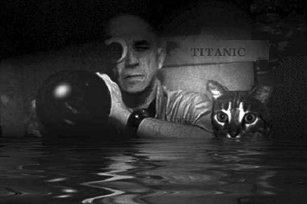 Portrait of Chris Marker and Guillaume-en-Egypte.