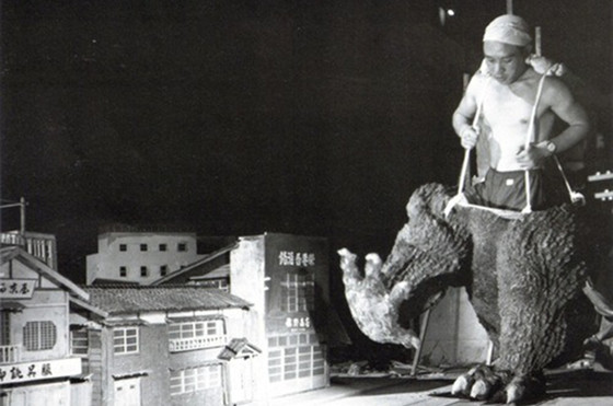 Godzilla behind the scene