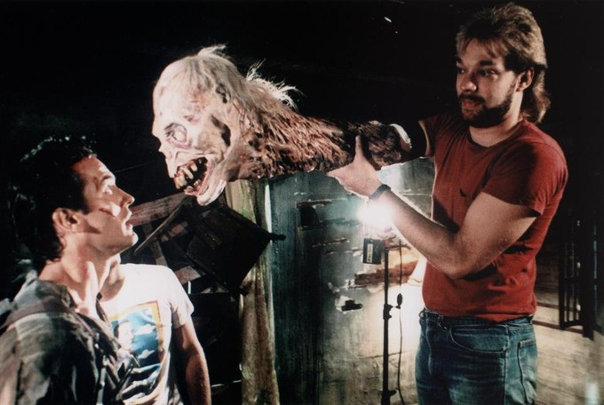 evil dead 2 behind the scene