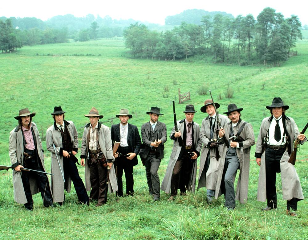 THE LONG RIDERS, David Carradine, Keith Carradine, Robert Carradine, Nicholas Guest, Christopher Guest, Dennis Quaid, Randy Quaid, Stacy Keach, James Keach, 1980, (c) United Artists