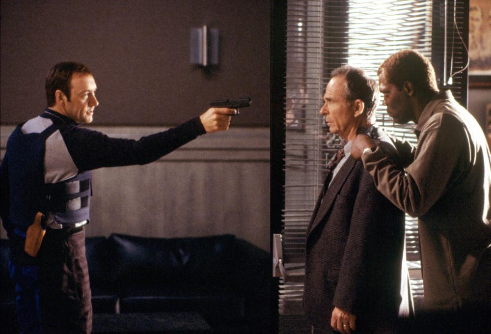 THE NEGOTIATOR, Kevin Spacey, Ron Rifkin, Samuel L. Jackson, 1998, (c) Warner Brothers