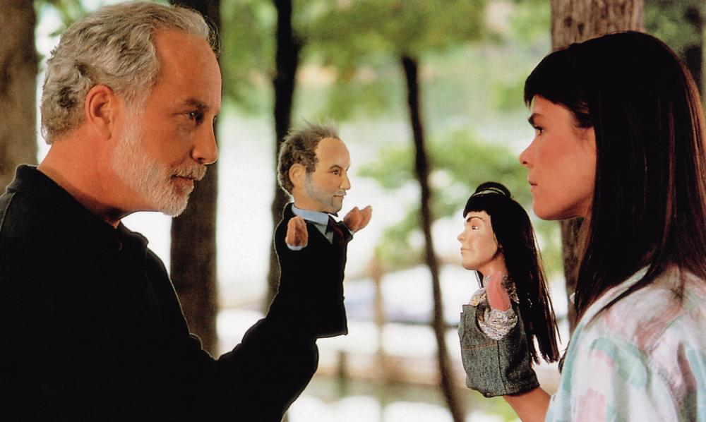 WHAT ABOUT BOB?, from left: Richard Dreyfuss, Kathryn Erbe, 1991, © Buena Vista