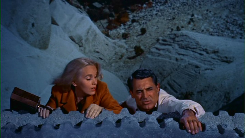 The Mount Rushmore sequence in North by Northwest