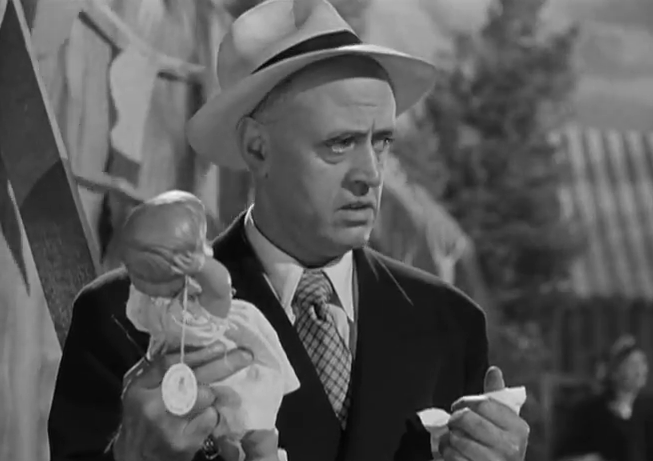 Alastair Sim as Commodore Gill in Stage Fright (1950)