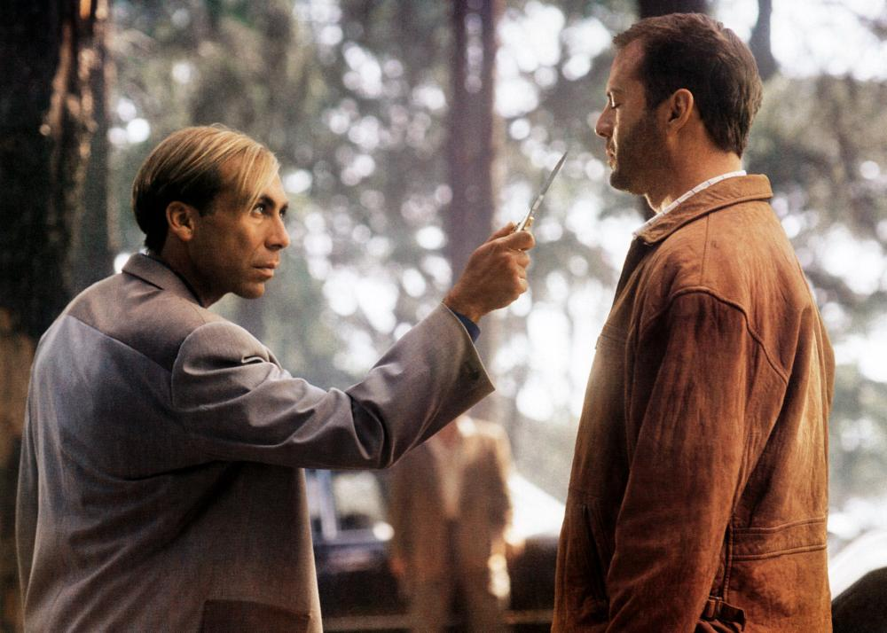 THE LAST BOY SCOUT, from left: Taylor Negron, Bruce Willis, 1991. ©Warner Brothers