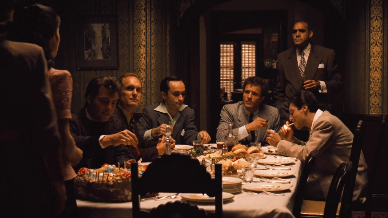 Reunion birthday party from The Godfather Part II