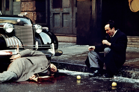 Vito Corleone gets shot from The Godfather