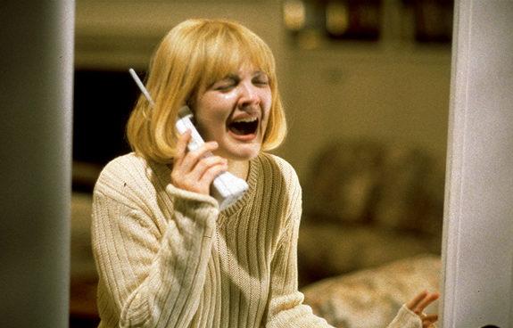 """Drew Barrymore in Wes Craven's """"Scream"""""""