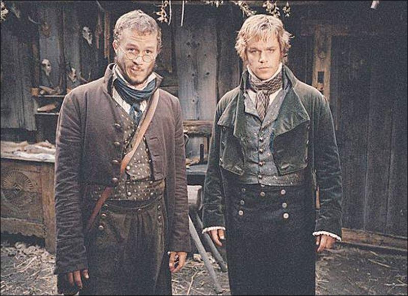 Matt Damon and Heath Ledger as the Brothers Grimm