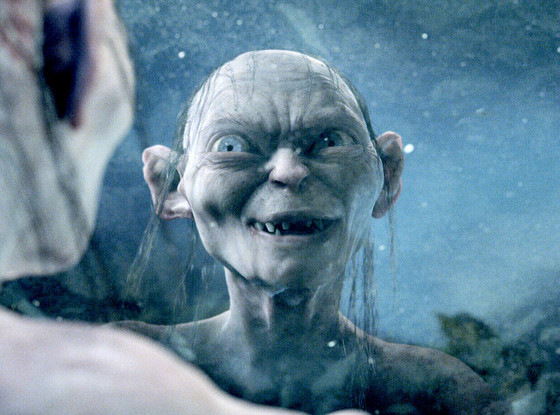 Gollum in Lord of the Rings The Two Towers