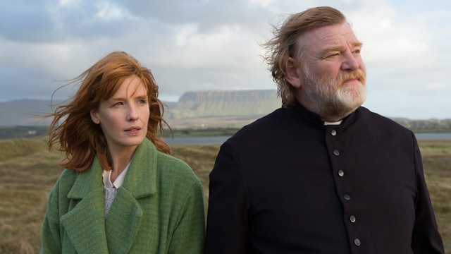 Kelly Reilly and Brendan Gleeson in Calvary