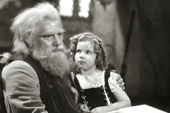 "Jean Hersholt and Shirley Temple ,""Heidi"" 1937 20th Century Fox - ARCHIVES 