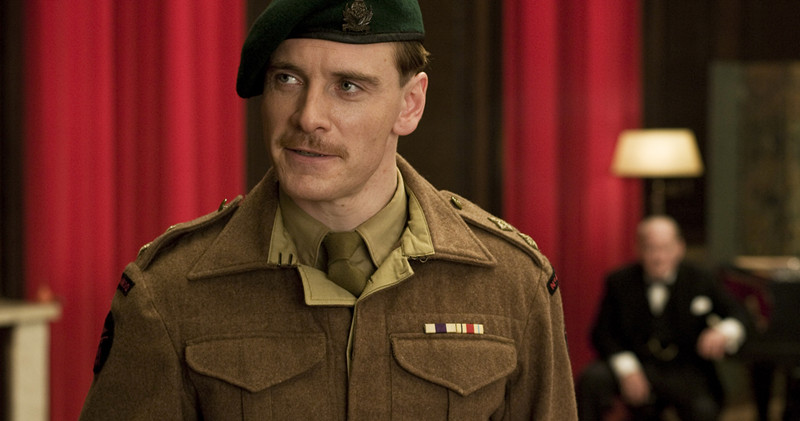 Michael Fassbender (Ltd Archie Hicox) in INGLOURIOUS BASTERDS.