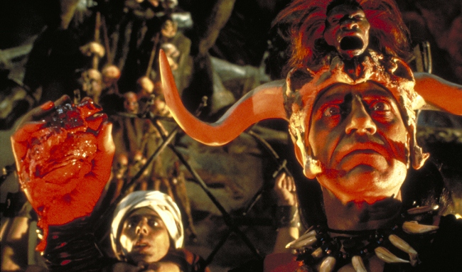 A heart is removed from Indiana Jones and the Temple of Doom