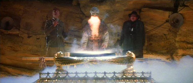 The opening of the ark from Raiders of the Lost Ark