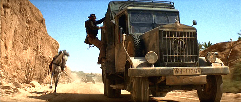 The truck chase from Raiders of the Lost Ark