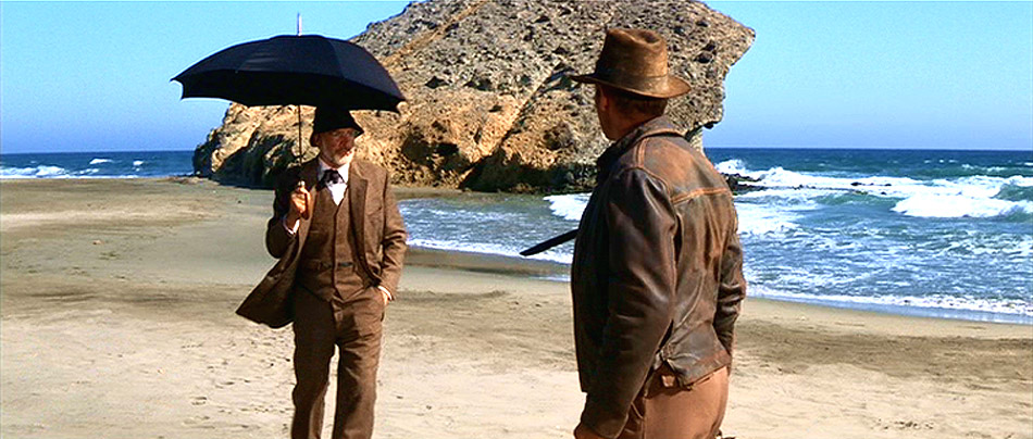 Umbrella vs. plane from Indiana Jones and the Last Crusade