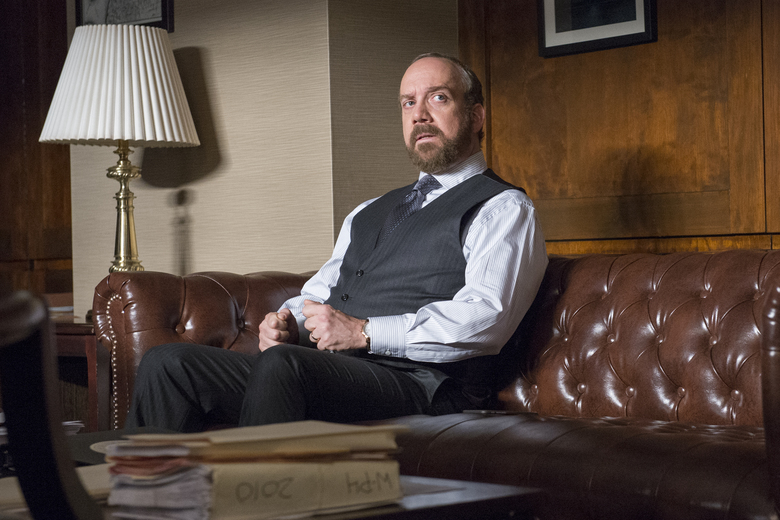 "In this image released by Showtime, Paul Giamatti portrays Chuck Rhoades in ""Billions,"" premiering Sunday at 10 p.m. ET on Showtime.(Jeff Neumann/Showtime via AP)"